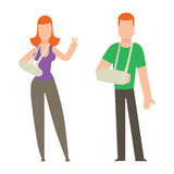 Trauma accident and human body safety vector people silhouette Royalty Free Stock Image