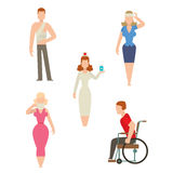 Trauma accident and human body safety vector people silhouette Stock Photos