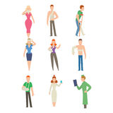 Trauma accident and human body safety vector people silhouette Royalty Free Stock Photo