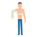 Trauma accident and human body safety vector people silhouette Stock Photo