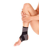 Trauma of ankle brace. Royalty Free Stock Photography