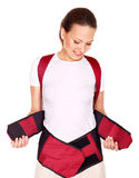 Trauma of back. Corset for posture. Stock Photography