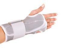 Trauma de poignet dans le support. Photographie stock