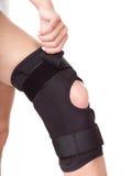 Trauma del ginocchio in parentesi graffa. Fotografia Stock Libera da Diritti