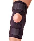 Trauma del ginocchio in parentesi graffa. Fotografie Stock Libere da Diritti