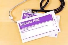 Trauma Gauze Pads Stock Image