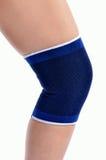 Trauma of knee in brace Stock Photo