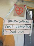 Trauma Support. At local political event Royalty Free Stock Photo