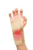 Trauma of wrist with wrist support Royalty Free Stock Photo