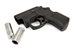 Traumatic pistol with ammunition Stock Image