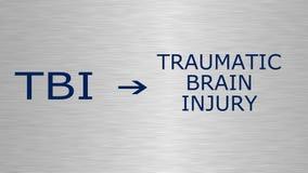Traumatische Hersenen verwonding-TBI royalty-vrije illustratie