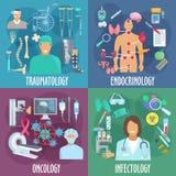 Traumatology, ενδοκρινολογία, ογκολογία, infectology ελεύθερη απεικόνιση δικαιώματος