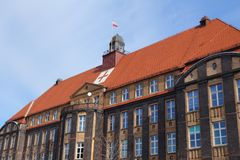 Traumatology hospital. In Poland - Piekary Slaskie in region of Upper Silesia (Gorny Slask Royalty Free Stock Photos