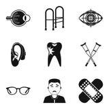 Traumatology icons set, simple style Royalty Free Stock Photos