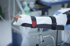 Traumatology orthopedic surgery hospital immobilized arm Royalty Free Stock Images