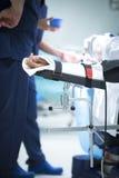 Traumatology orthopedic surgery hospital immobilized arm Royalty Free Stock Image