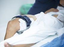 Traumatology orthopedic surgery knee arthroscopy Stock Images