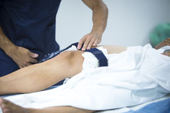 Traumatology orthopedic surgery knee arthroscopy Royalty Free Stock Photos