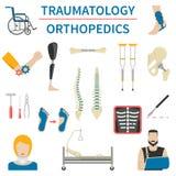 Traumatology And Orthopedics Icons Stock Image