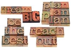 Traumgroße, Plan, erreichen heraus Lizenzfreies Stockfoto