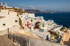 Trauminsel Santorini Stockfotografie