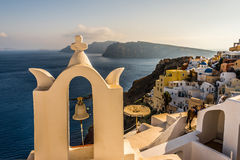 Trauminsel Santorini Stockfoto