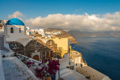 Trauminsel Santorini Stockbild