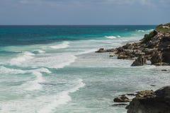 Trauminsel, Strand von Isla Mujeres, Mexiko Stockbilder