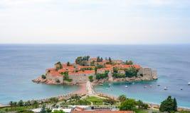 Trauminsel und Luxus-Resort Sveti Stefan, Montenegro Balkan, adriatisches Meer, Europa Lizenzfreie Stockfotografie