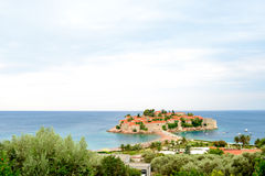 Trauminsel und Luxus-Resort Sveti Stefan, Montenegro Balkan, adriatisches Meer, Europa Lizenzfreies Stockfoto