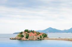 Trauminsel und Luxus-Resort Sveti Stefan, Montenegro Balkan, adriatisches Meer, Europa Lizenzfreie Stockfotos