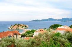 Trauminsel und Luxus-Resort Sveti Stefan, Montenegro Balkan, adriatisches Meer, Europa Stockfoto