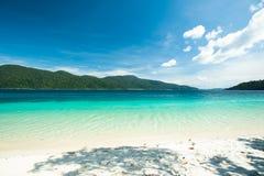 Trauminsel und Türkis färben Meer, Adang-Raweeinsel, Tha Lizenzfreies Stockfoto