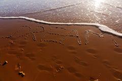 Traumwort geschrieben in den Strand Lizenzfreies Stockfoto