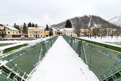 Traun river pedestrian bridge. Bad Ischl, Austria