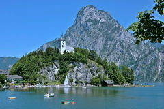 Traunkirchen on Ebensee Stock Photo