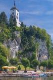 Traunkirchen,Lake Traunsee,Austria Stock Photos