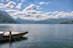 Traunsee湖- Gmunden,奥地利 免版税库存照片