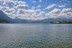 Traunsee湖- Gmunden,奥地利 库存图片