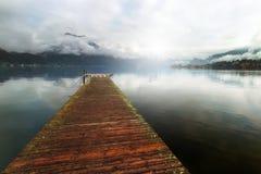 Traunsee jezioro Zdjęcia Royalty Free