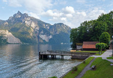 Traunsee summer lake (Austria). Royalty Free Stock Images