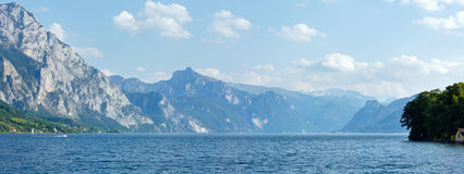 Traunsee summer lake panorama (Austria). Stock Images