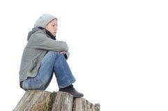 Traurig und einsam Lizenzfreie Stockbilder