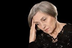Traurige ältere Frau Stockbild