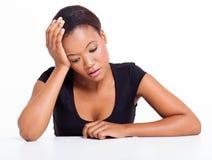 Traurige afrikanische Frau Lizenzfreies Stockbild