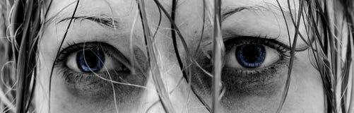 Traurige Augen Stockbild