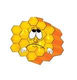 Traurige Bienenwabenkarikatur Lizenzfreie Stockfotos