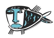 Traurige blaue Fische vektor abbildung