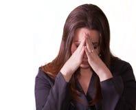 Traurige Brunettefrau Lizenzfreie Stockbilder
