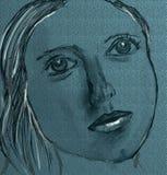 Traurige Dame lizenzfreies stockbild